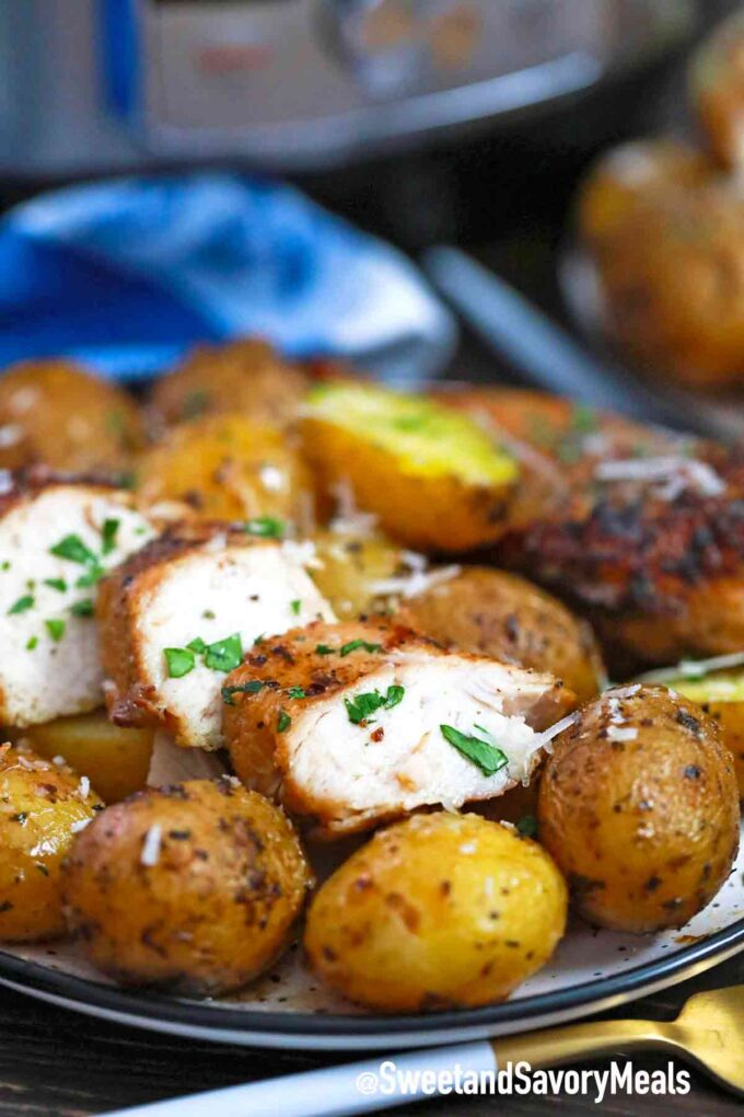 pressure cooker chicken and potatoes