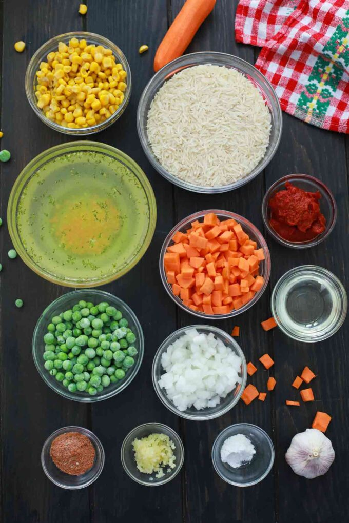 instant pot Mexican Rice ingredients