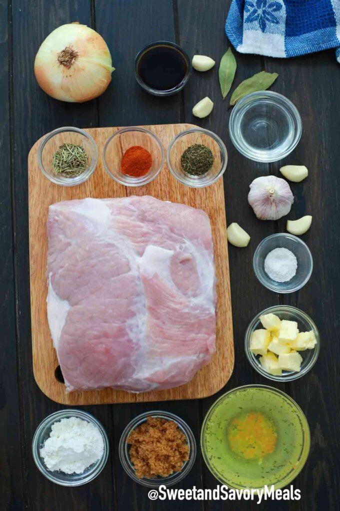 instant pot pork shoulder ingredients