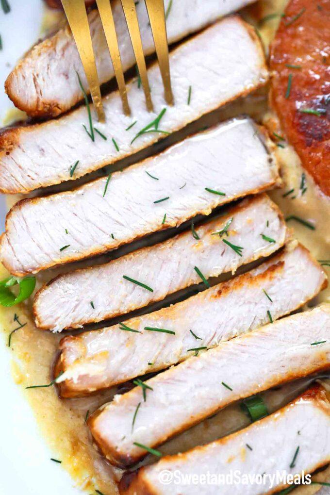 sliced instant pot ranch pork chops