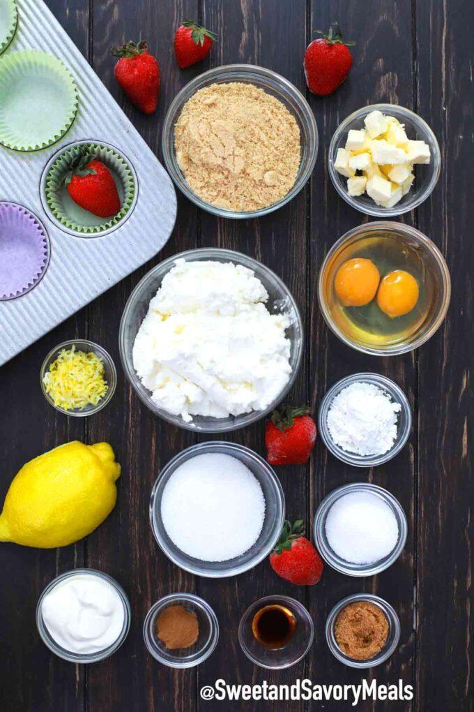 mini cheesecakes ingredients