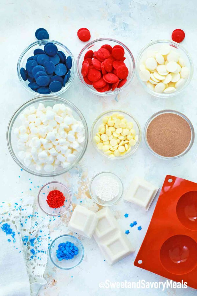 patriotic hot cocoa bombs ingredients