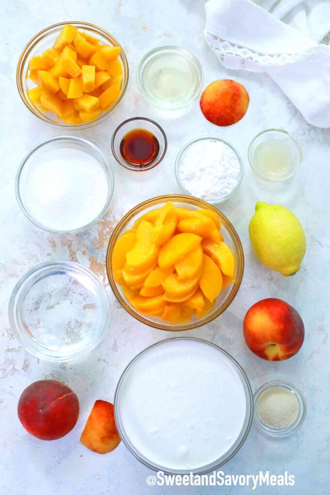 peach mousse ingredients