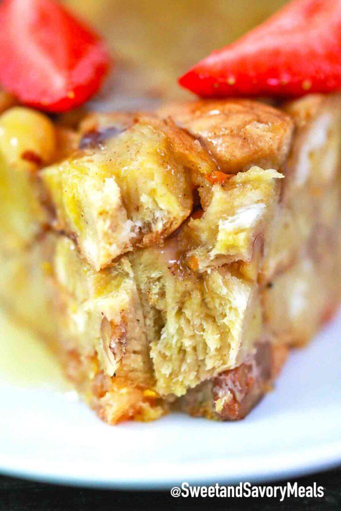 pressure cooker bread pudding inside