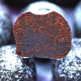 brownie bite chocolaty center