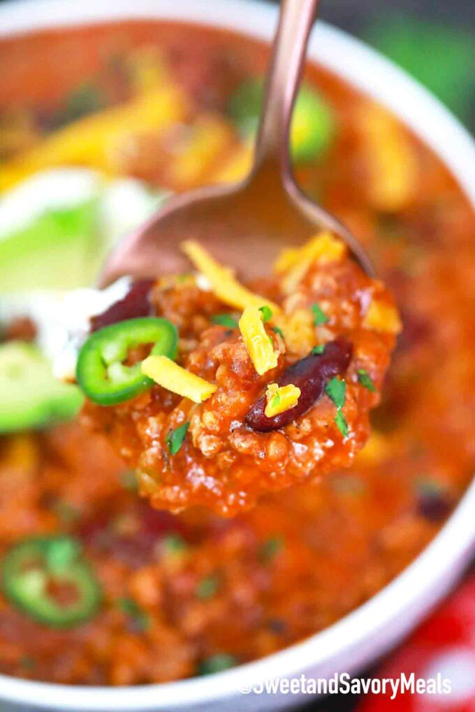 a spoonful of chili