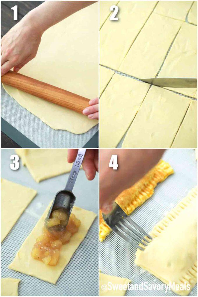 steps how to cut pie dough