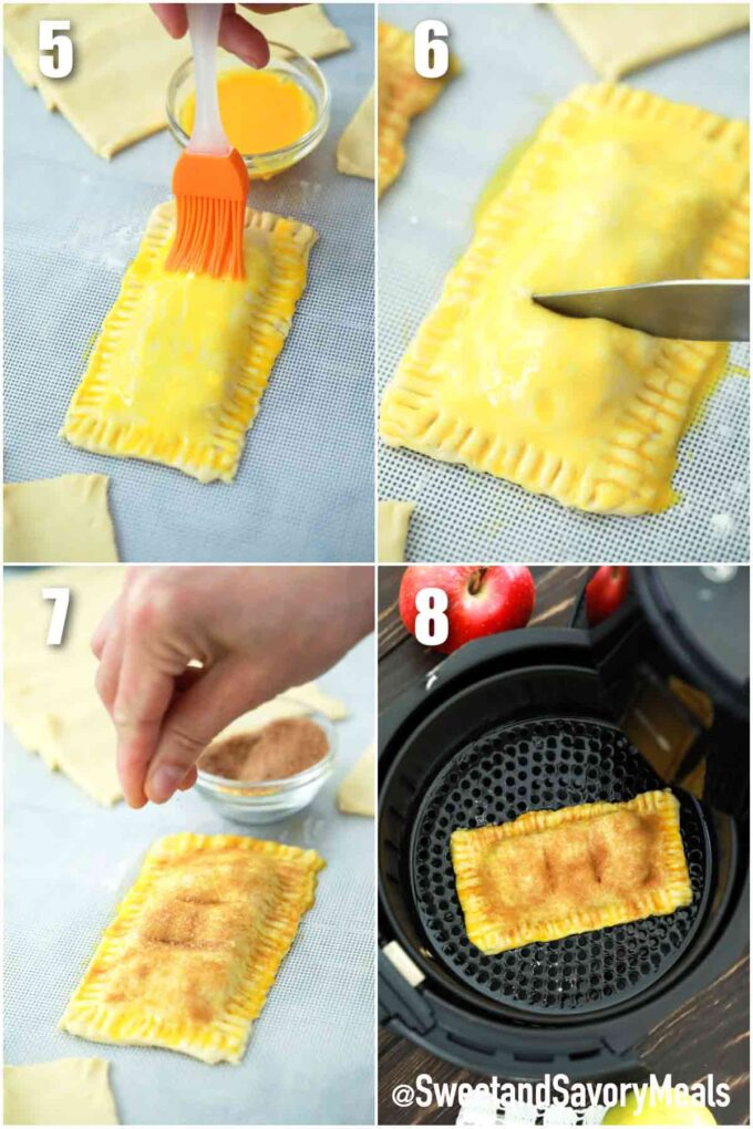 steps how to make air fried apple pies