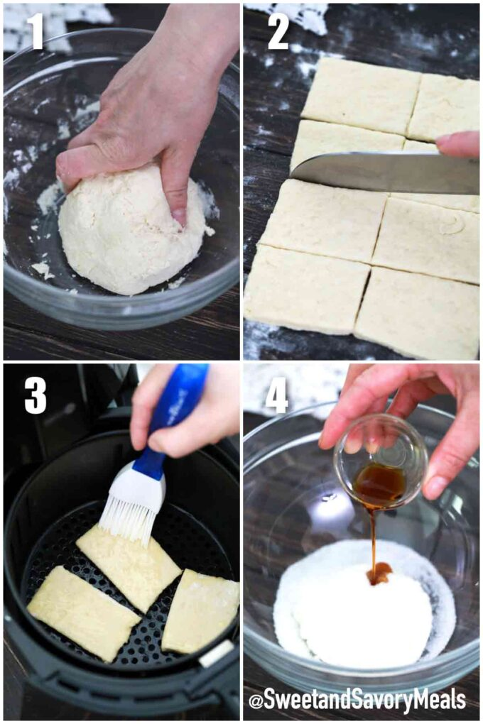 steps how to make air fryer beignets