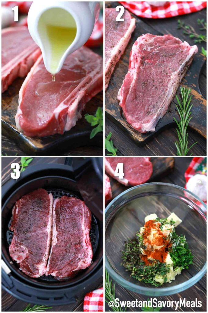 steps how to make air fryer ribeye steak