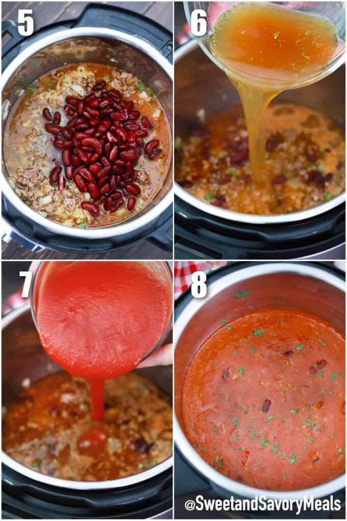 steps how to make instant pot mexican chili