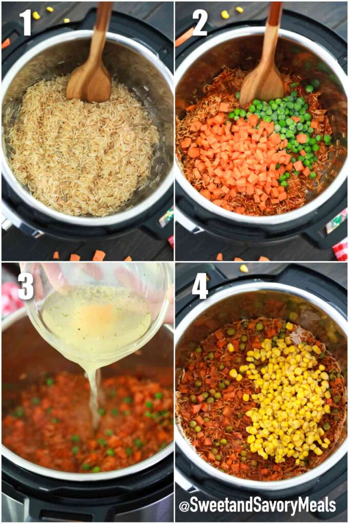 steps how to make instant pot Mexican Rice