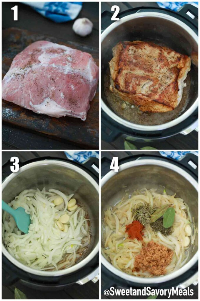 steps how to make instant pot pork shoulder