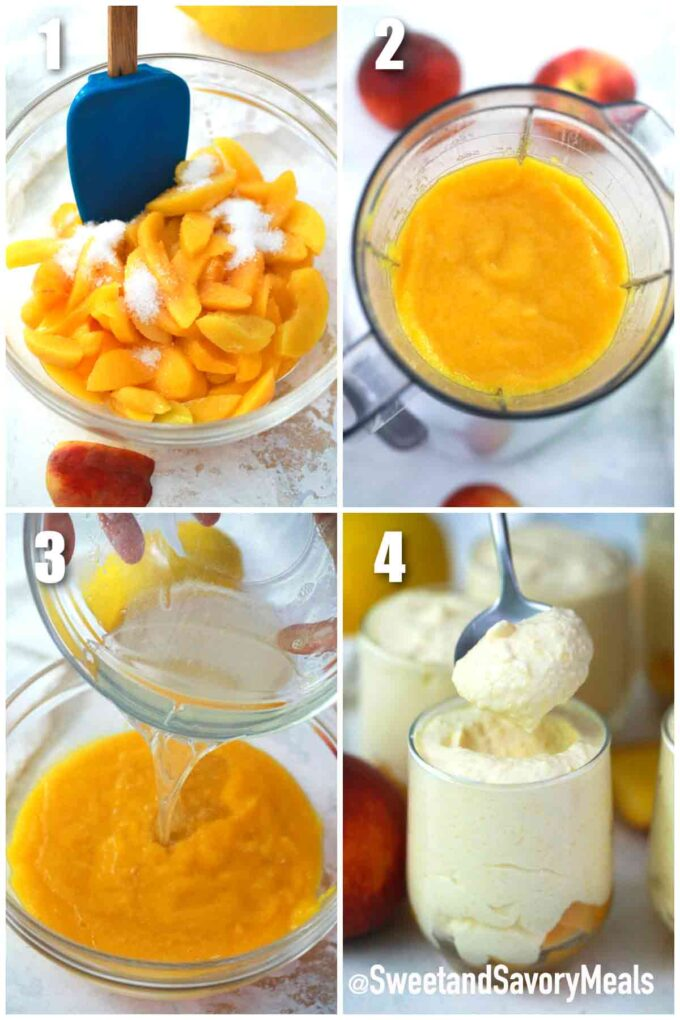 steps how to make peach mousse