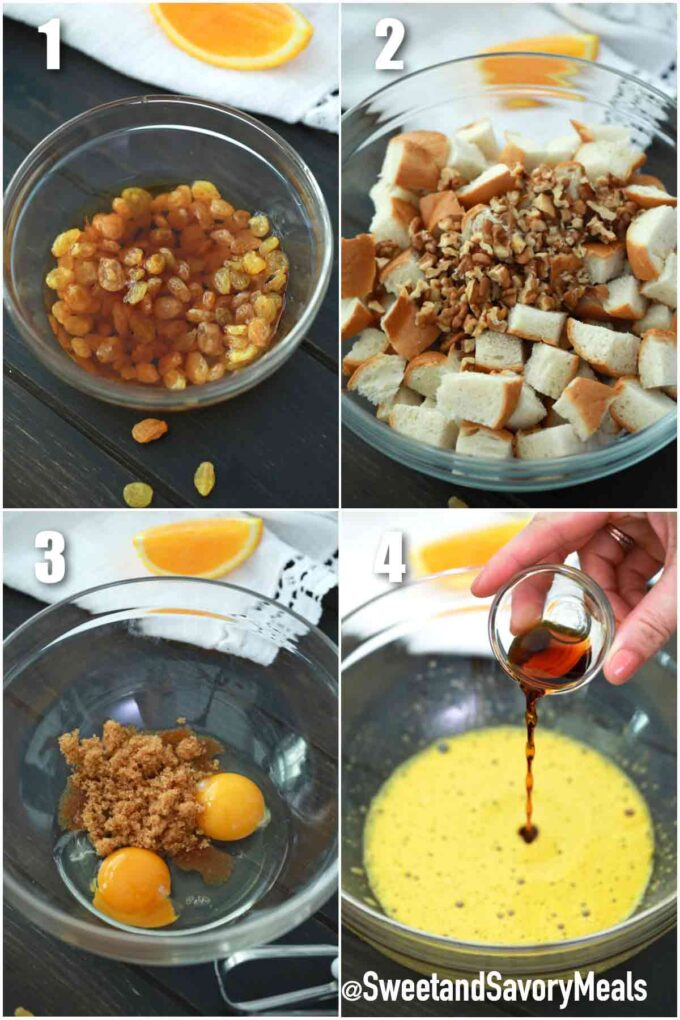 steps how to make pressure cooker bread pudding