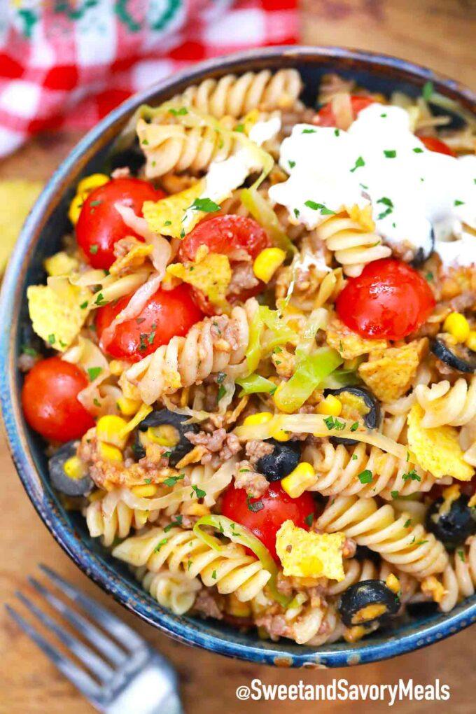 taco pasta salad