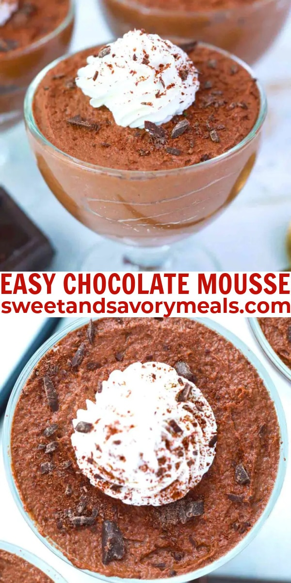 easy chocolate mousse pin