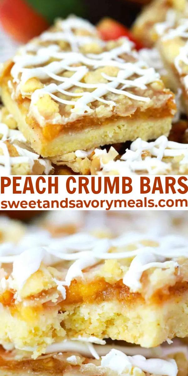 easy peach crumb bars pin