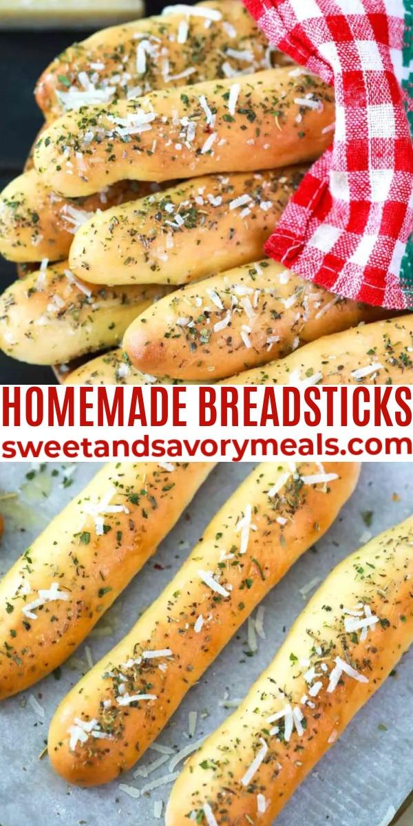 easy homemade breadsticks pin