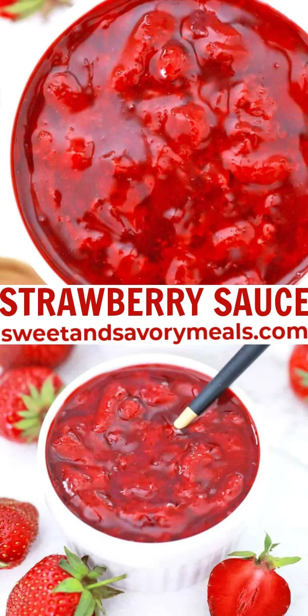 easy strawberry sauce pin