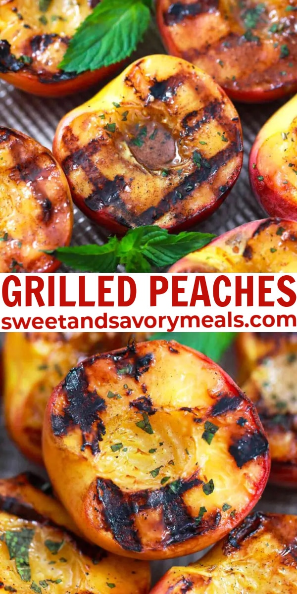easy grilled peaches pin