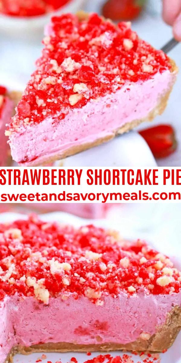 easy strawberry shortcake pie pin