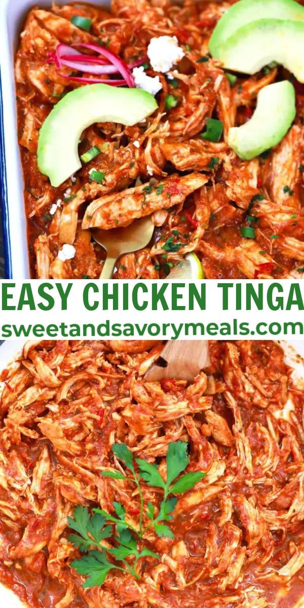 easy chicken tinga pin