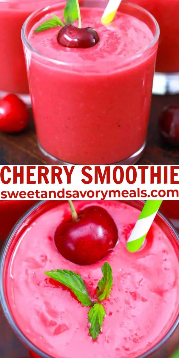 easy cherry smoothie pin