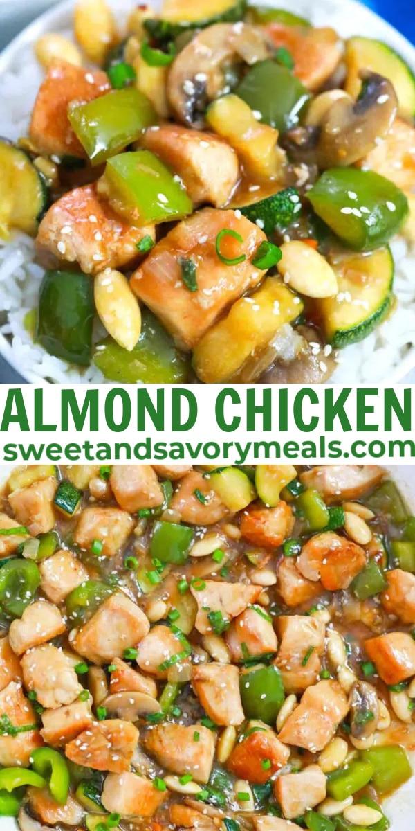 easy almond chicken pin