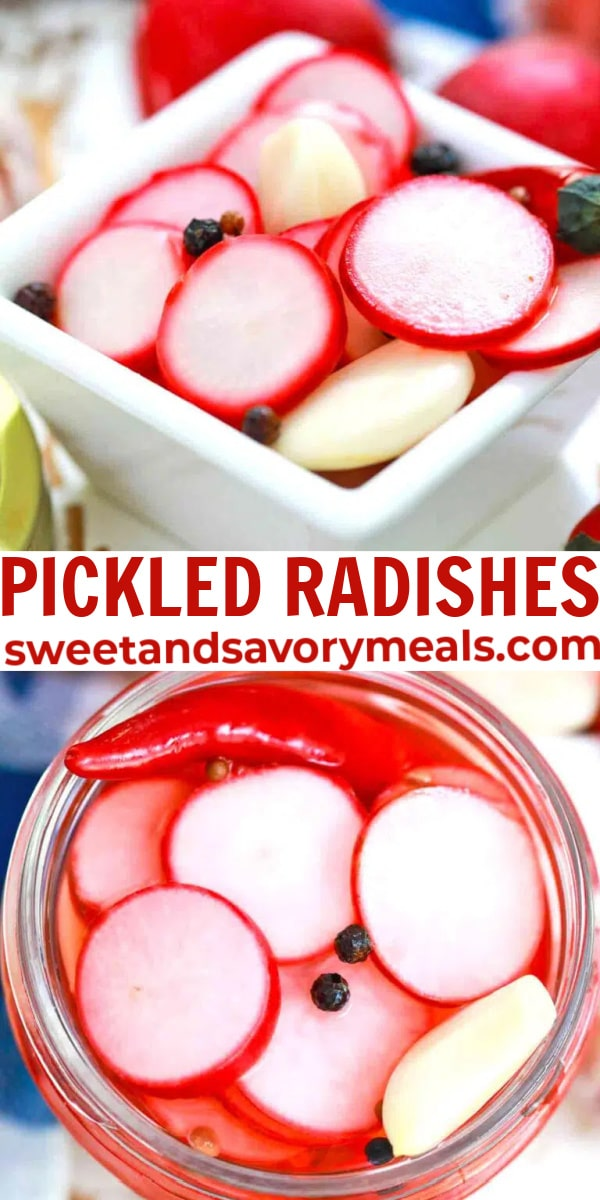 easy pickled radishes pin
