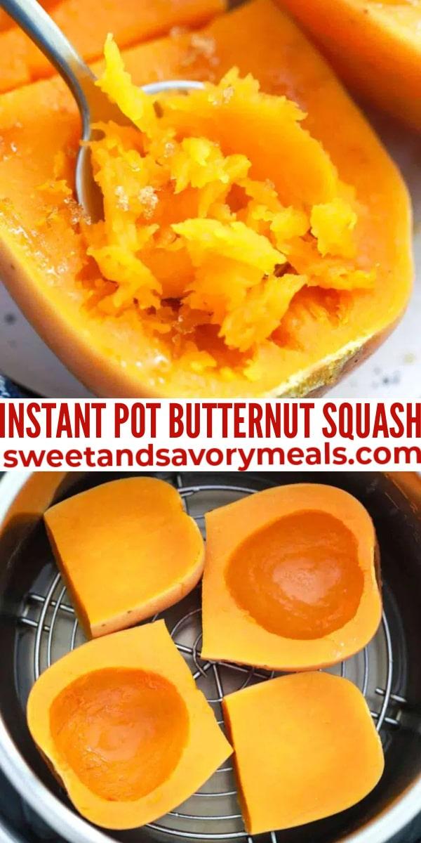 easy instant pot butternut squash pin