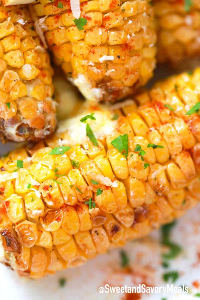 charred corn with paprika and butter