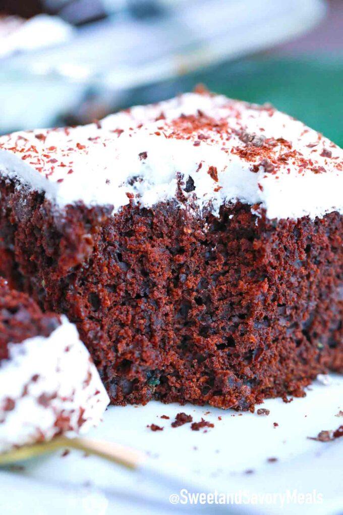 bite into chocolate zucchini cake