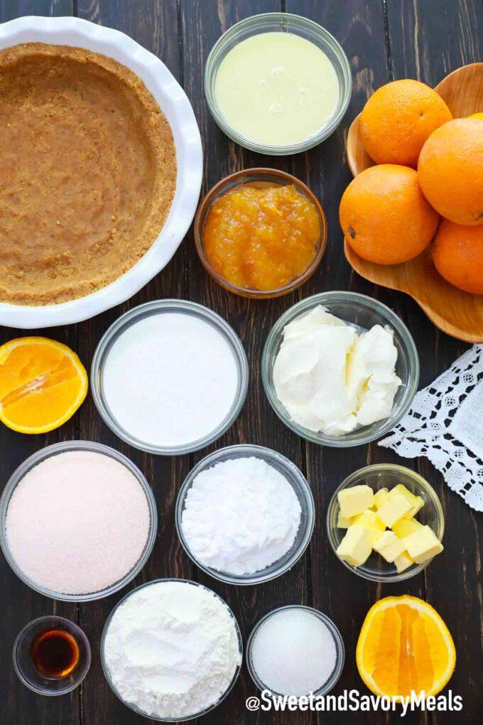 orange creamsicle freezer pie ingredients