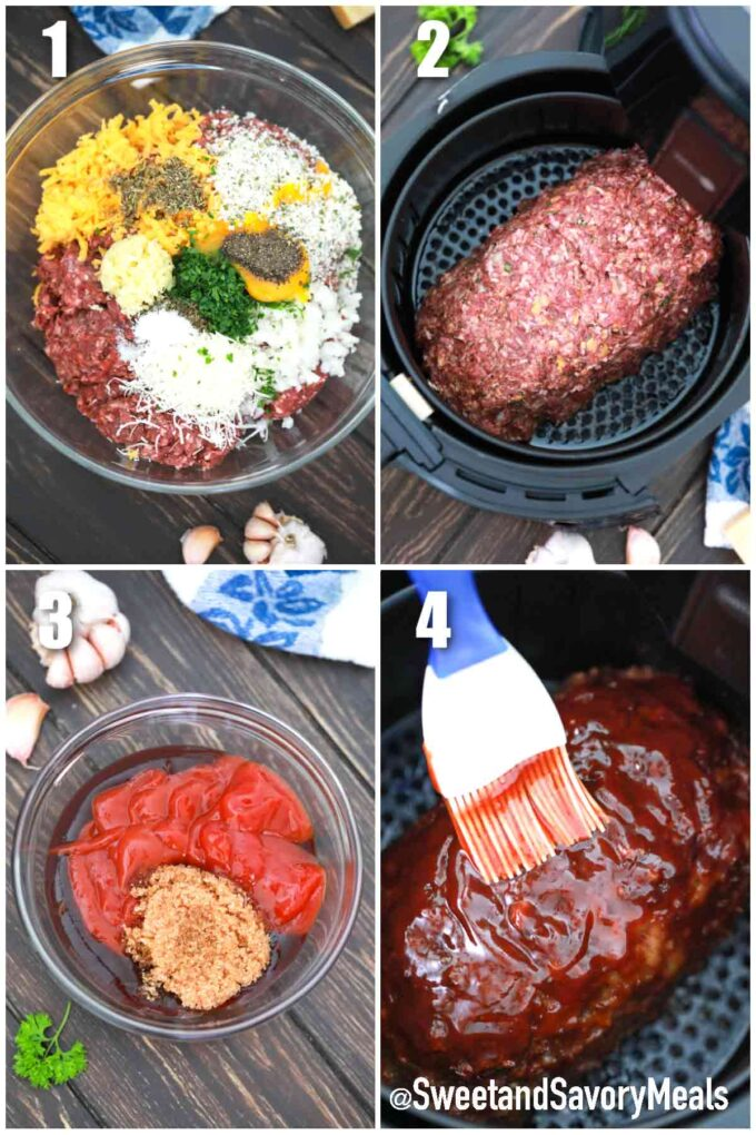 steps how to make air fryer meatloaf