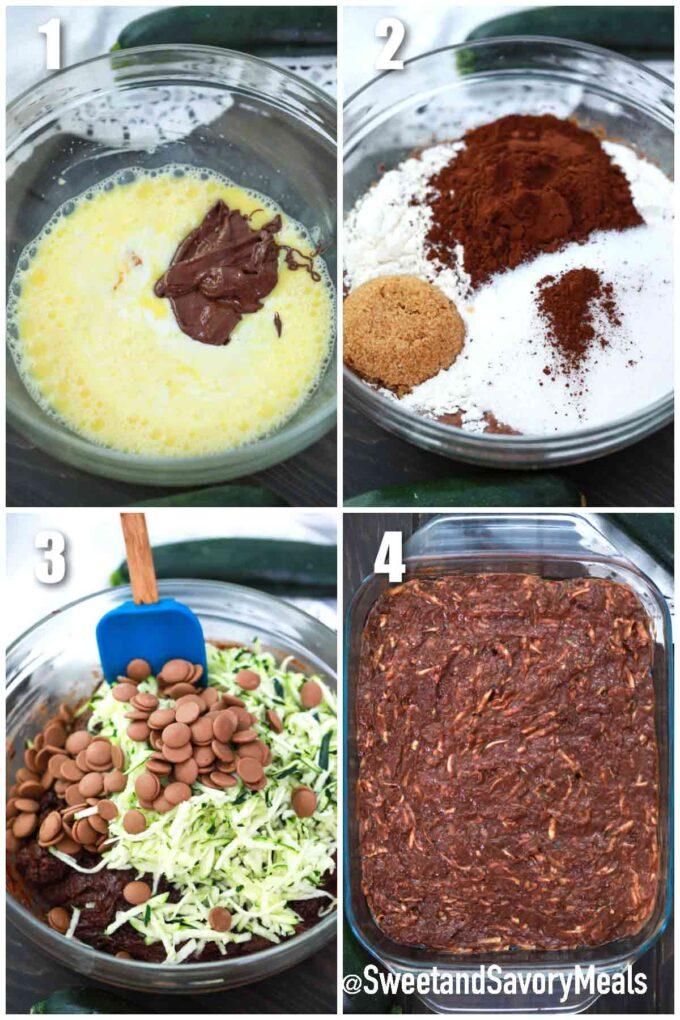 steps how to make chocolate zucchini cake