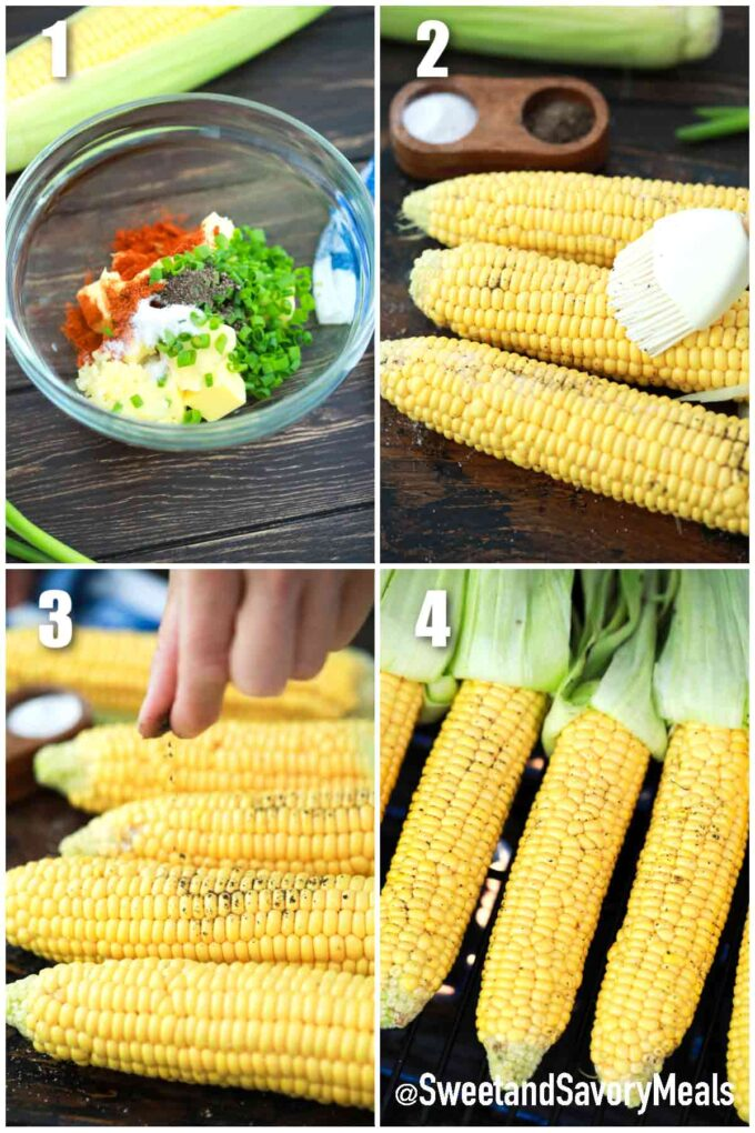 steps how to make grilled corn