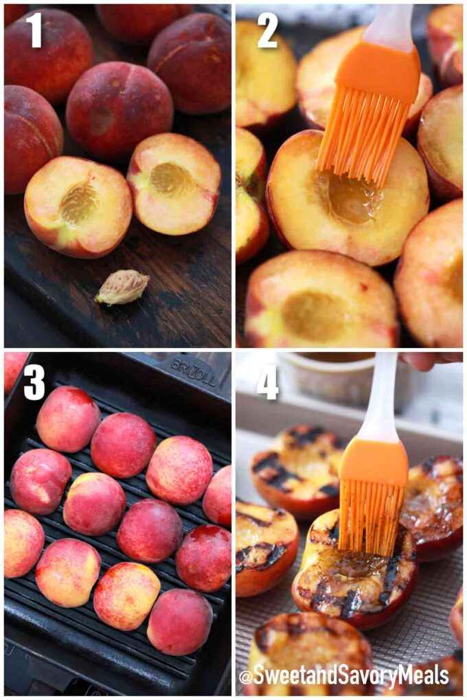 steps how to make grilled peaches