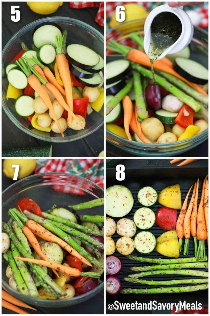 steps how to make grilled vegetables