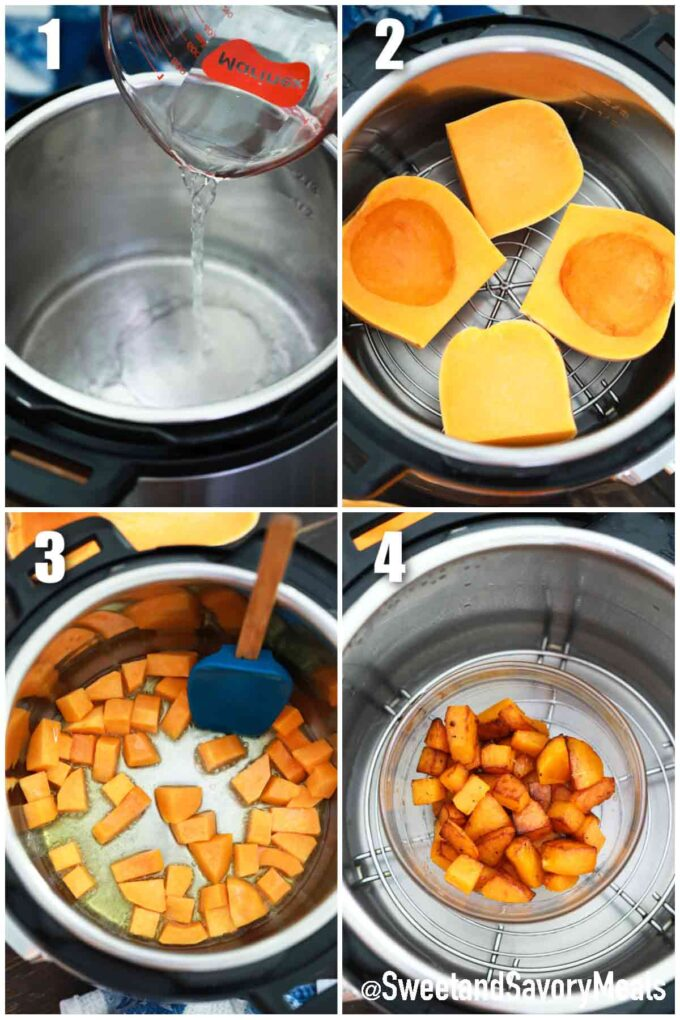 steps how to make instant pot butternut squash