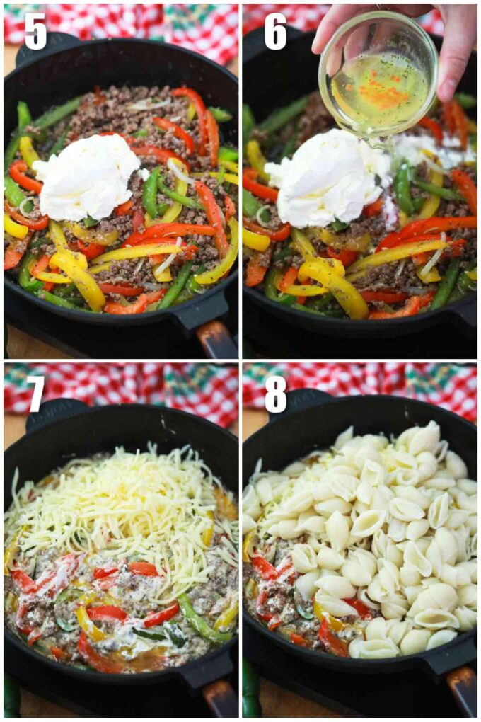 how to make Philly cheesesteak casserole