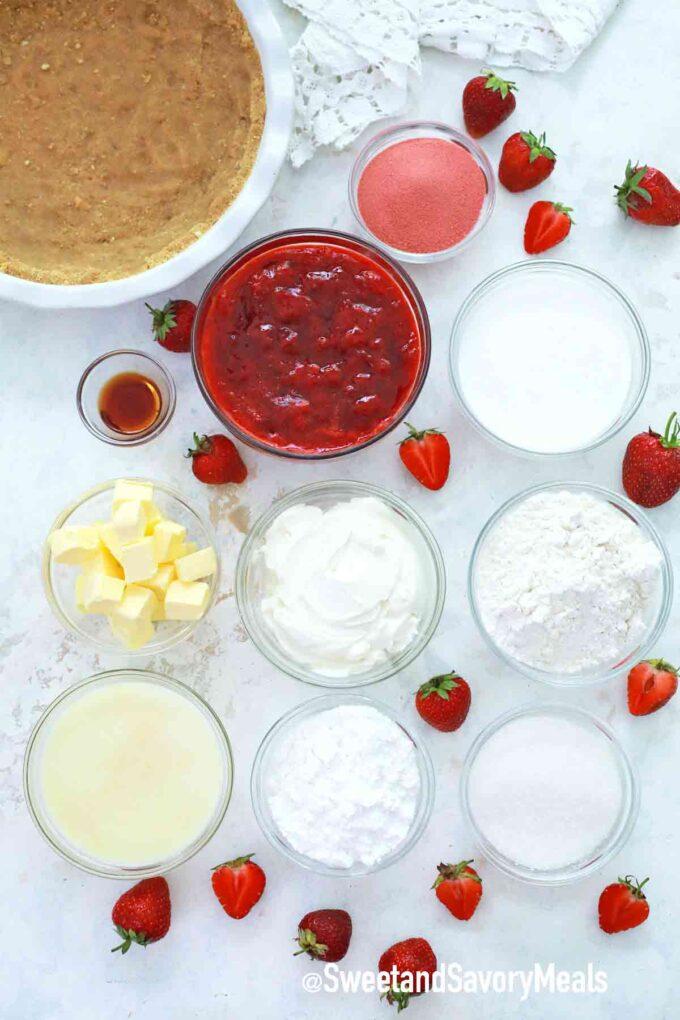 strawberry shortcake pie ingredients