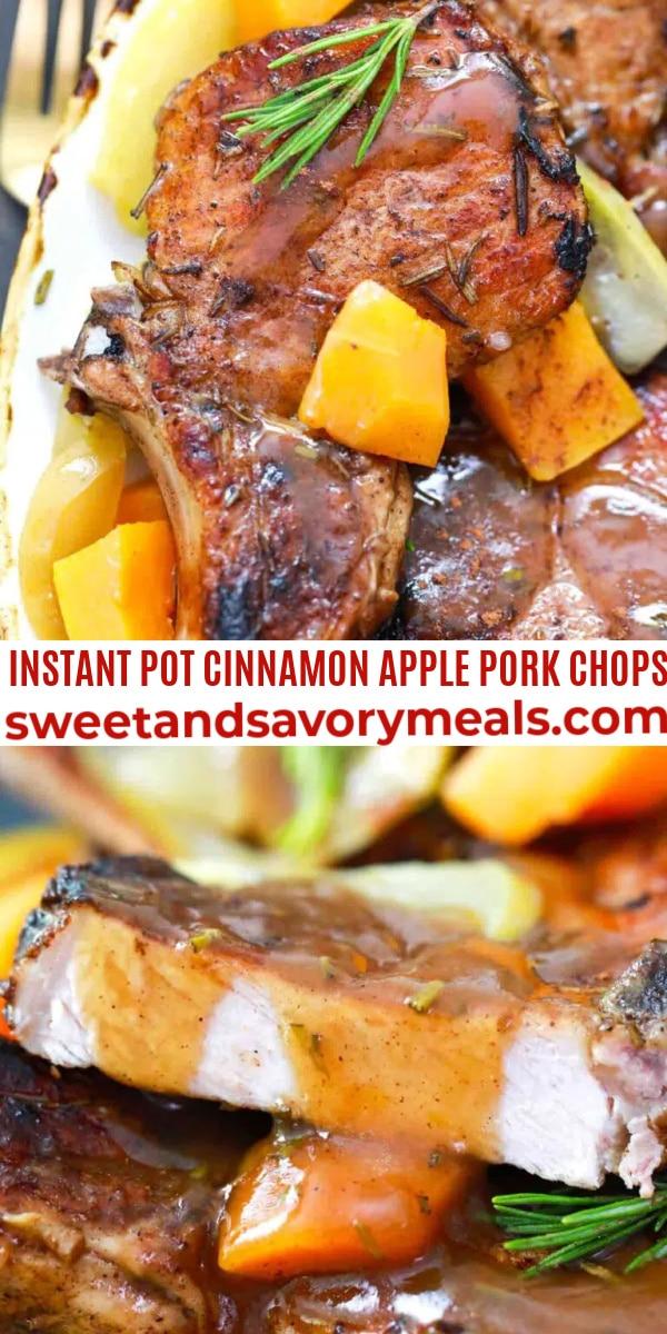 easy instant pot cinnamon apple pork chops pin