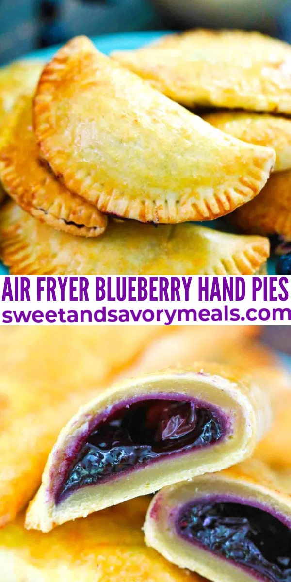 easy air fryer blueberry hand pies pin