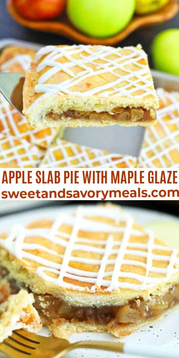 easy apple slab pie pin