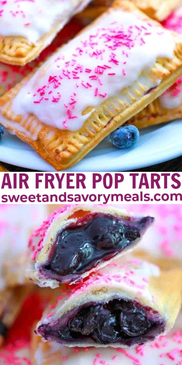 easy air fryer pop tarts pin