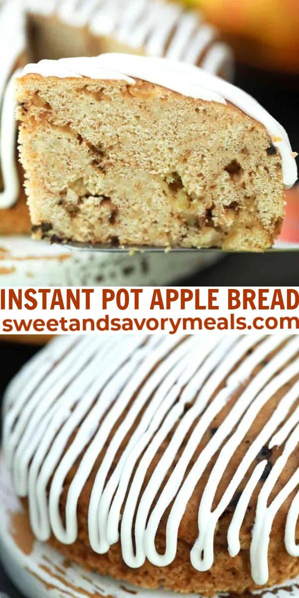 easy instant pot apple bread pin