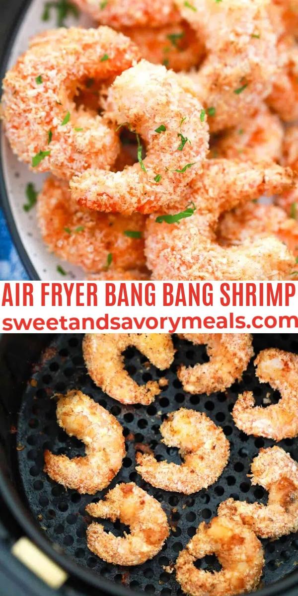 easy air fryer bang bang shrimp pin