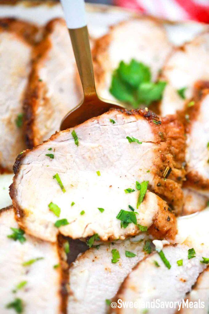 sliced pork tenderloin