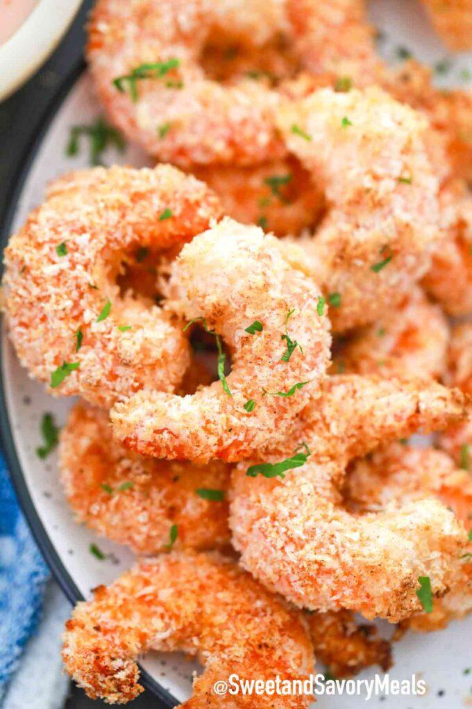 crispy shrimp on a serving plate
